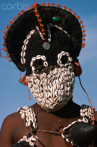 Woman Wears Funeral Mask in Mali