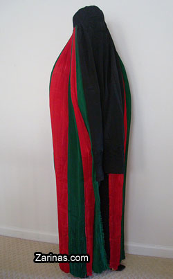 afghani flag burqa
